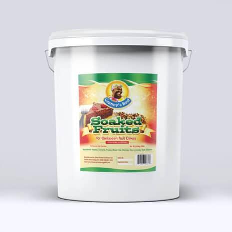Grannys Best Soaked Fruits Plastic Bucket 40lbs
